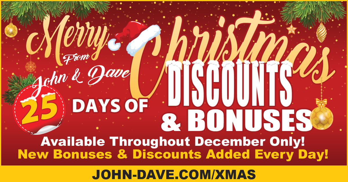 25 Days of Bonuses & Discounts