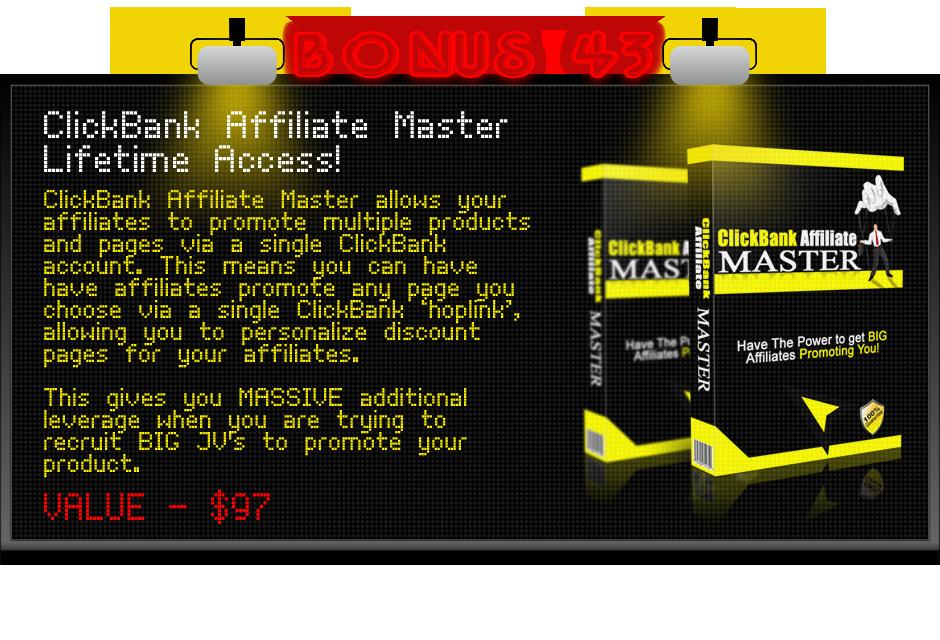 clickbank affiliate master bonus